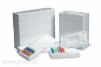 Krabička pro mikrozkumavky 1,5 a 2,0 ml PS