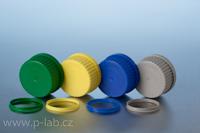 Uzávěry a vylévací kroužky PP pro všechny typy lahví DURAN<sup>®</sup> se závitem