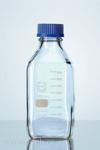 1000ml čirá hranatá laboratorní láhev se šroubovacím uzávěrem