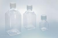 Láhev pro média PET hranatá sterilní